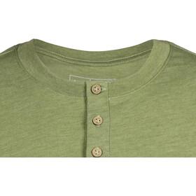 tentree Long Henley T-paita Miehet, mosstone green